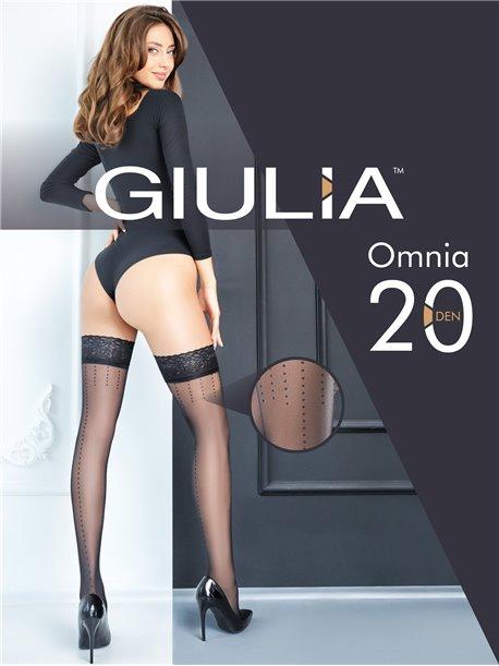 Omnia 20 - Halterlose Strümpfe mit Punktnaht