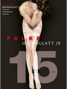 Falke SEIDENGLATT 15 - Halterloser Strumpf