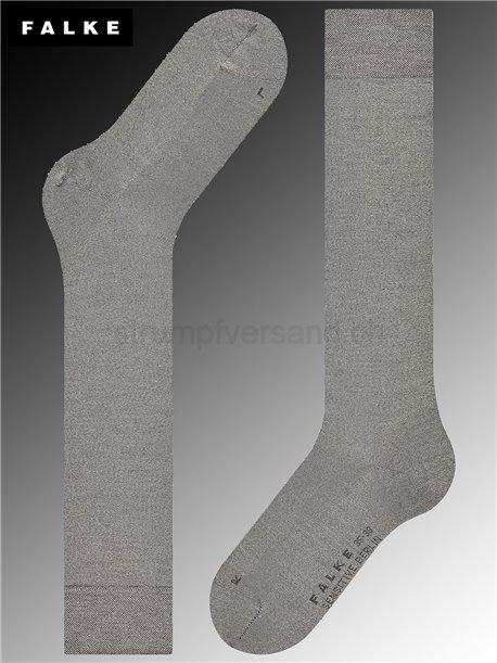 Kniesocken SENSITIVE BERLIN - 3830 light grey