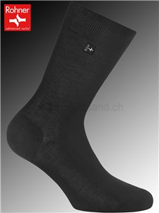 Rohner Socken CASABLANCA - 009 schwarz