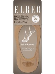 Ballerina Baumwoll Füssling (3er Pack)