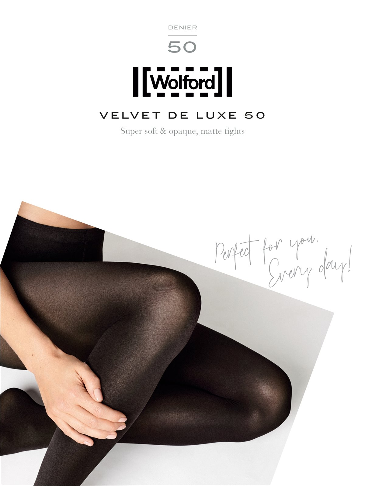 Wolford Velvet de Luxe 50 Tights blickdichte Strumpfhose 50 DEN