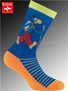 GLOBI TREKING Kindersocken - 304 blau
