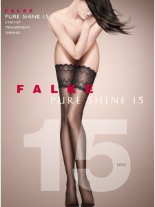 Falke PURE SHINE 15 - Halterlose Strümpfe