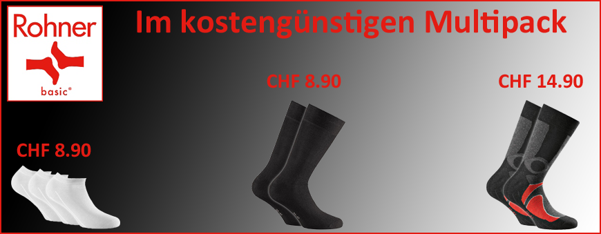 Rohner Basic Socken im günstigen Multipack